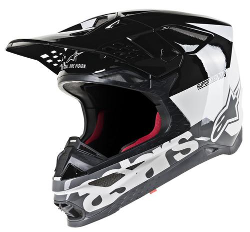 2019 Alpinestars S-M8 MX Helment Radium White/Black/Grey
