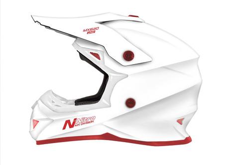 2019 Nitro MX620 Junior MX Helmet Uno White