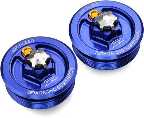 ZETA Front Fork Cap KYB MX Blue