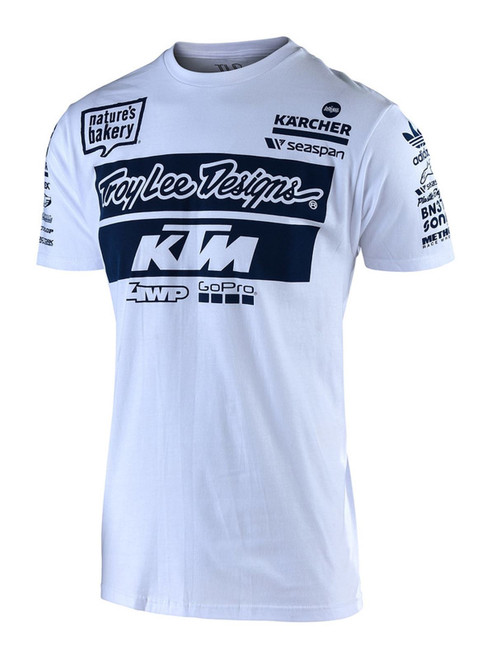 2019 Troy Lee Designs TLD KTM T-Shirt White