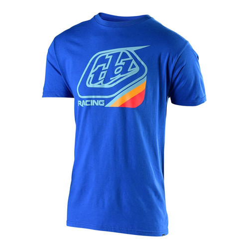 Troy Lee Designs TLD Casual Short Sleeved T-Shirt Precision 2.0 Royal Blue