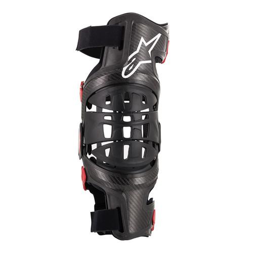 2019 Alpinestars Bionic-10 Carbon Knee Brace Black/Red Left Side