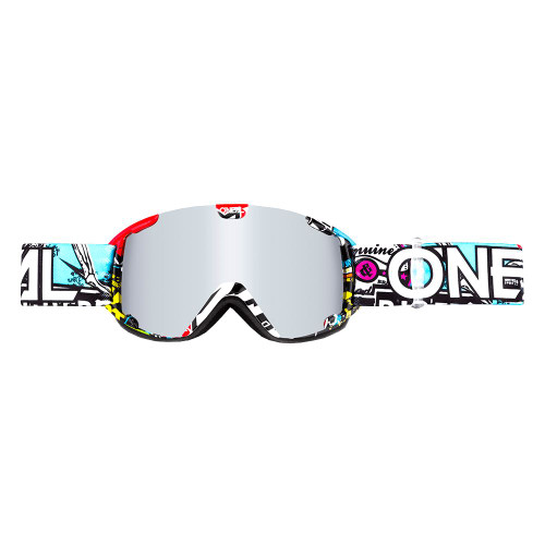 2018 Oneal B-30 Youth Goggle CRANK multi - mirror silver