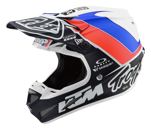 2019 Troy Lee Design TLD SE4 Comp MX Helmet Unite White/Navu
