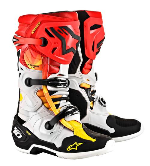 Alpinestars Tech 10 Motocross Boots LTD Indianapolis Black/Red/Yellow