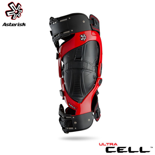 Asterisk Ultra Cell Knee Protection System Adult (Red) Pair Size Small