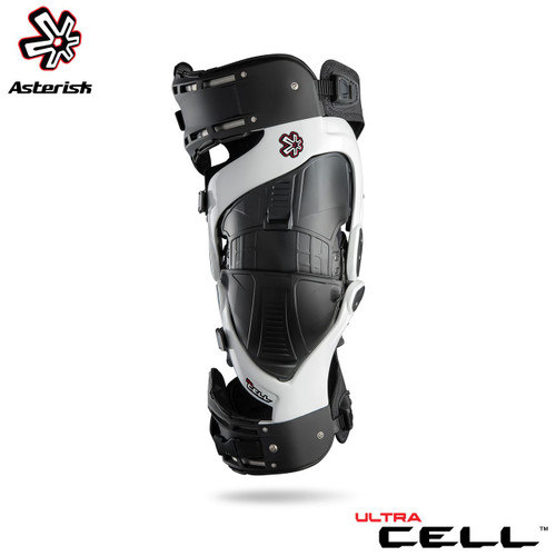 Asterisk Ultra Cell Knee Protection System Adult (White) Pair Size Small