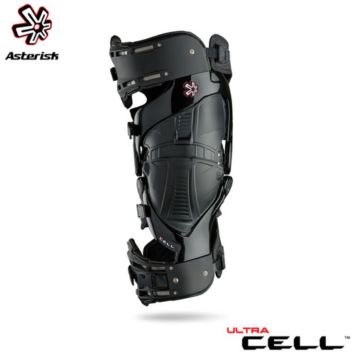 Asterisk Ultra Cell Knee Protection System Adult (Black) Pair Size Small