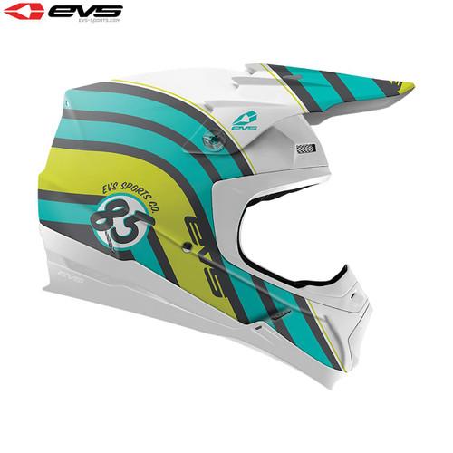 EVS T5 MX Helmet Cosmic Matte Tiffany Blue