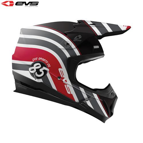 EVS T5 MX Helmet Cosmic Black/Red