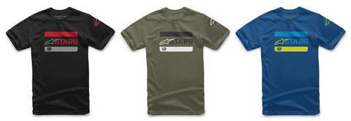Alpinestars Men's Adult Casual Short Sleeved T-Shirt Barred