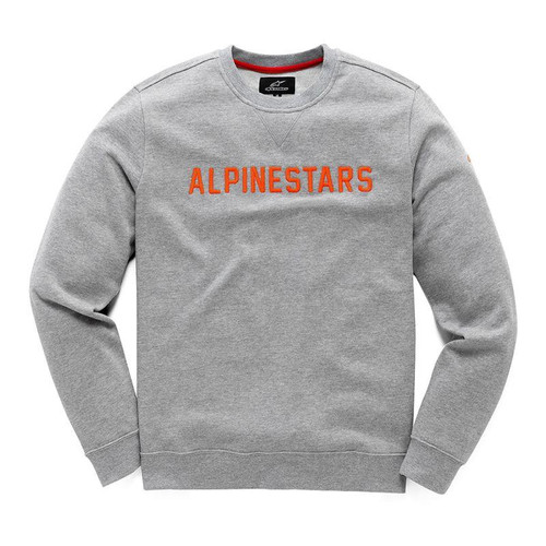 Alpinestars Men's Adult Pullover Hoody Distance Grey/Orange