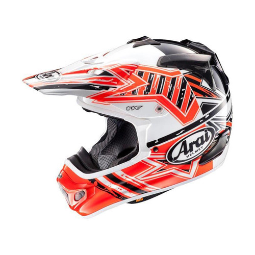 Arai MX-V MX Helmet Star Orange