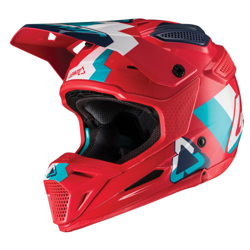 2019 Leatt Youth GPX 5.5 MX Helmet Red/Teal