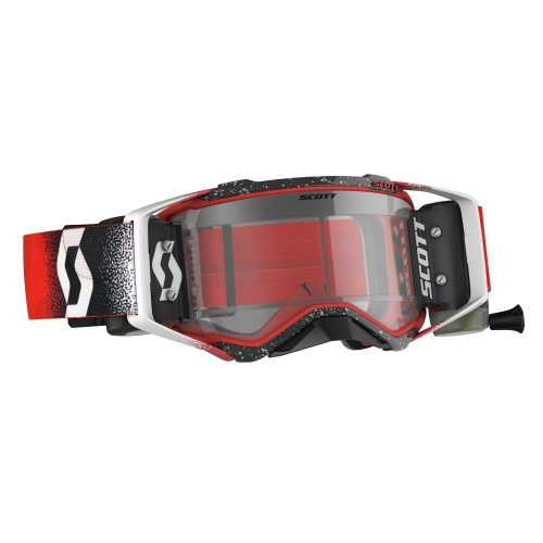 Scott Prospect WFS MX Goggles White/Red w/Clear Lens