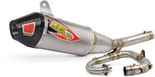 Pro Circuit T-6 Stainless System W/Titanium shell and carbon end cap, YZ250F '2019