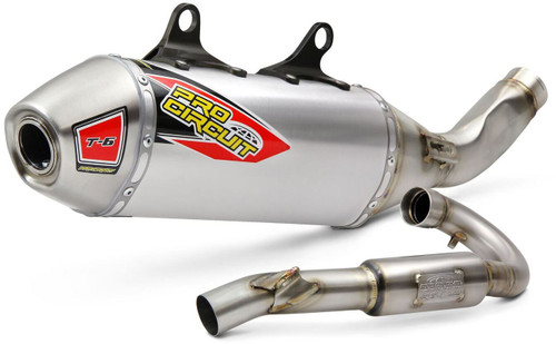 Pro Circuit T-6 Stainless System W/Removable Spark Arrestor KTM/Husq 350 '2019