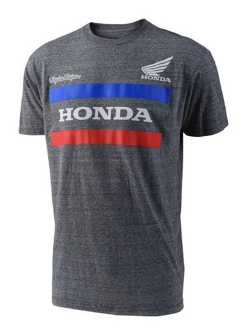 Troy Lee Designs TLD Men's Adult Casual Short Sleeved T-Shirt Honda Charcoal