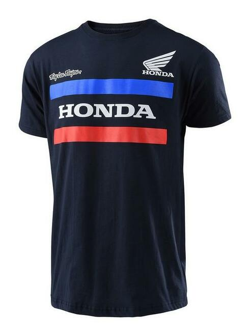 Troy Lee Designs TLD Men's Adult Casual Short Sleeved T-Shirt Honda Navy