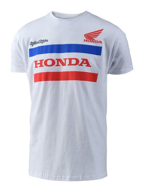 Troy Lee Designs TLD Men's Adult Casual Short Sleeved T-Shirt Honda White