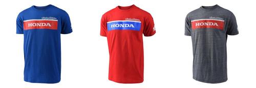 Troy Lee Designs TLD Men's Adult Casual Short Sleeved T-Shirt Honda Wing Block