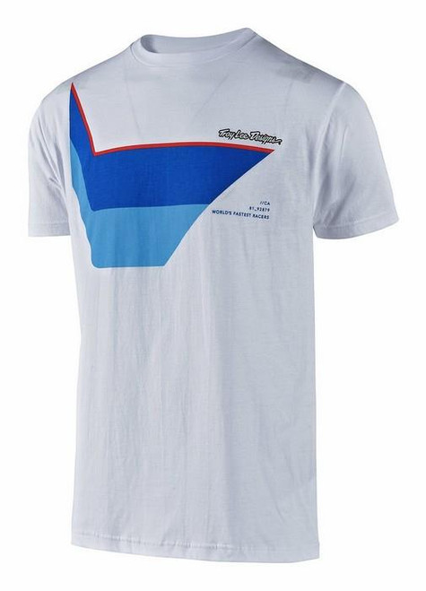 Troy Lee Designs TLD Men's Adult Casual Short Sleeved T-Shirt Prisma White