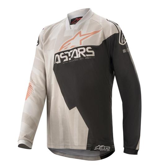 2020 Alpinestars Youth Kids Racer Factory MX Jersey Grey/Black Rust