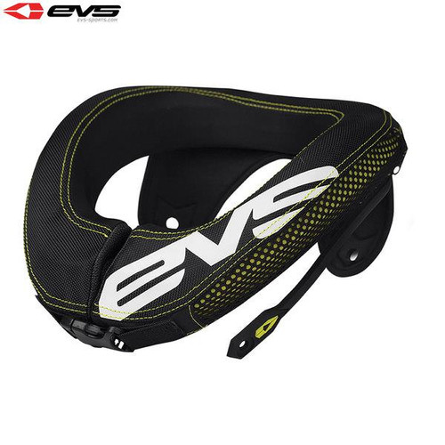 EVS R3 Neck Protector Including Armour Straps Adult (Black/Hi-Viz Yellow) Size Adult