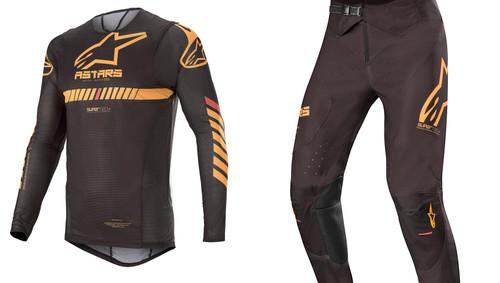 2020 Alpinestars Men's Adult MX Combo Gear Black/Orange/Red Fluo