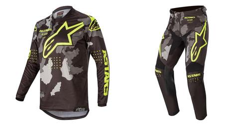 2020 Alpinestars Youth Racer Tactical Combo Black/Grey Camo/Yellow