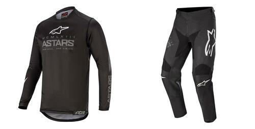 2020 Alpinestars Youth Racer Graphite MX Gear Combo Black/Dark Grey