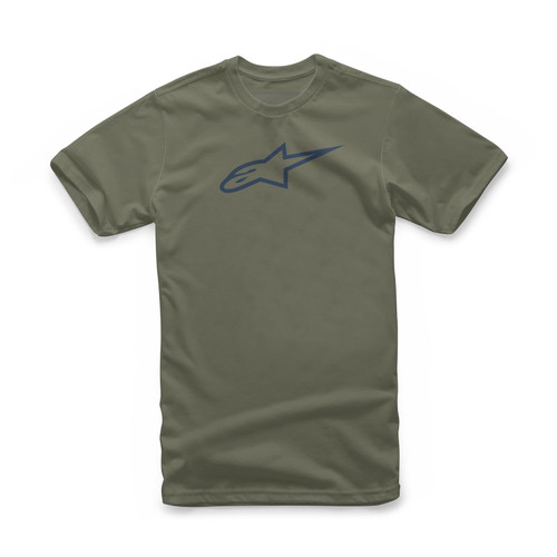 Alpinestars Men's Adult Casual Short Sleeved T-Shirt Classic Green/Navy