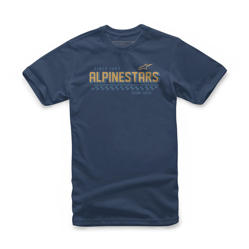 Alpinestars Men's Adult Casual Short Sleeved T-Shirt Coronal Navy
