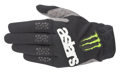 2020 Alpinestars Racefend Men's Adult MX Gloves Raptor Black/Bright Green