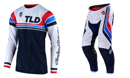 2019 Troy Lee Designs TLD SE Air Fall Men's MX Gear Seca White/Dark Navy