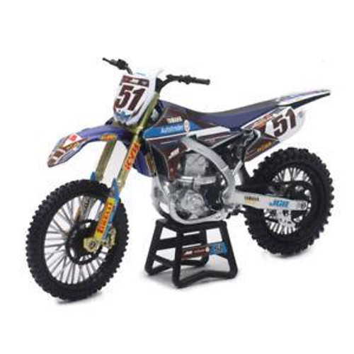 JUSTIN BARCIA JGR YAMAHA YZF 450 - 1:12 DIE-CAST TOY MOTOCROSS BIKE NEW-RAY