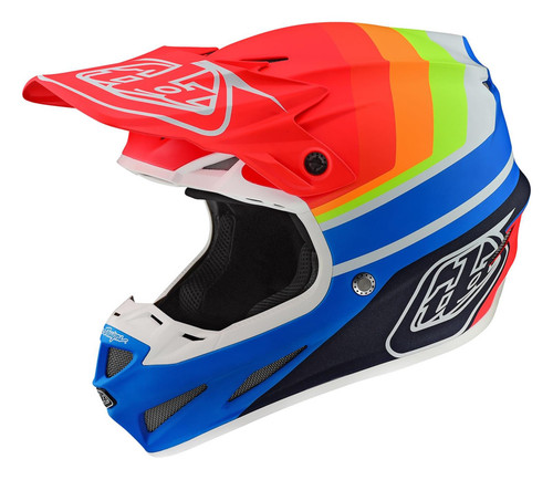 TLD Motocross Helmet SE4 Composite Mirage Blue/Red Troy Lee Designs