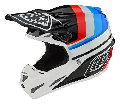TLD Motocross Helmet SE4 Composite Mirage White/Black Troy Lee Designs