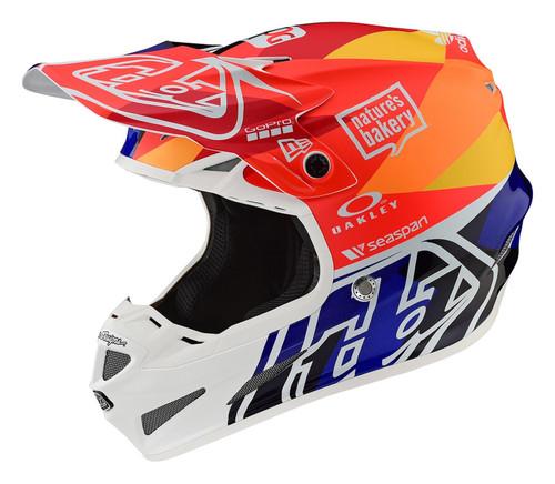 Troy Lee Designs TLD SE4 Composite Men's Adult MX Helmet Jet Orange/Navy