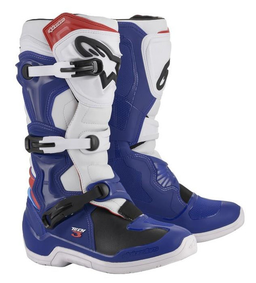 Alpinestars Tech 3 Adult Motocross Boots Blue/White/Red
