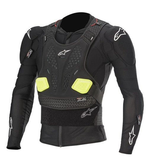 2020 Alpinestars Bionic Pro V2 Protection Jacket Black/Yellow Fluo