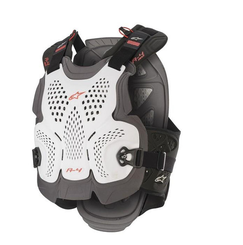 2020 Alpinestars A-4 Max Chest Protector White/Anthracite/Red