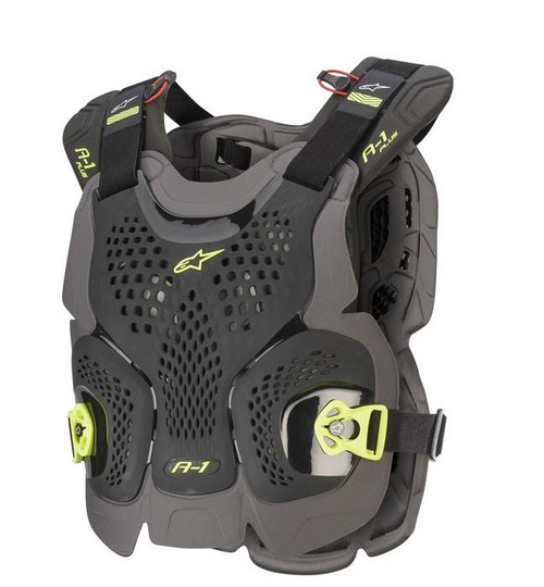 2020 Alpinestars A-1 Plus Chest Protector Black/Anthracite/Yellow Fluo