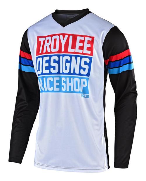 TLD Motocross Jersey GP Carsbad White/Black Men's Adult Troy Lee Designs MX