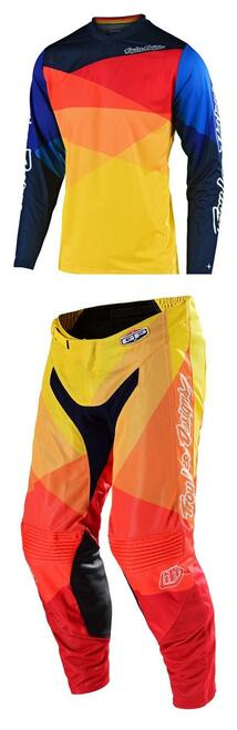 TLD Motocross Gear GP Air Jet Yellow/Orange F19 MX Kit Combo