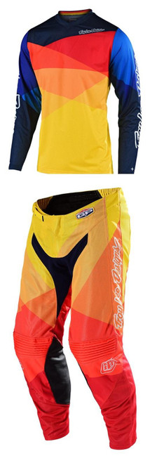 TLD Motocross Gear GP Air Jet Yellow/Orange F19 MX Kit Combo
