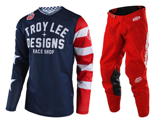 TLD Motocross Gear GP Air Americana/Mono Red F19 MX Kit Combo
