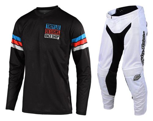TLD Motocross Gear GP Air Saddleback Black/Cyan F19 MX Kit Combo