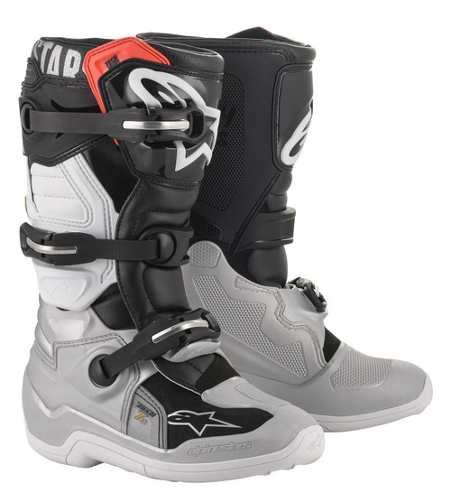 Alpinestars Tech 7S Youth Boots Black/Silver/White/Gold