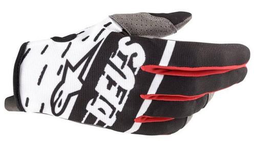 2020 Alpinestars Motocross Gloves Radar Ltd Edition Deus Ex Machina Black/White/Red